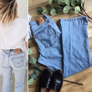 Levi's | High Waisted flared Mom Jeans